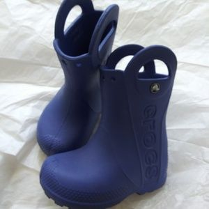 Crocs Rain Boots Kids Toddlers Size 7